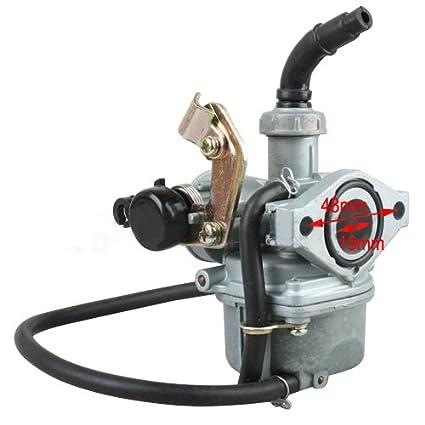 amazon com x pro 19mm carburetor w cable choke for 50 cc 70cc 90 cc variable venturi carburetor diagram x pro 19mm carburetor w cable choke for 50 cc 70cc 90 cc 110cc