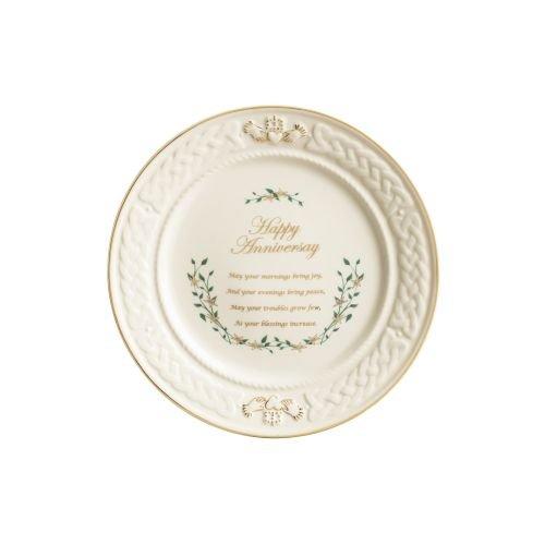 (Belleek Happy Anniversary Plate )