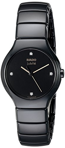 - Rado Women's R27655752 True Jubile Analog Display Swiss Quartz Black Watch