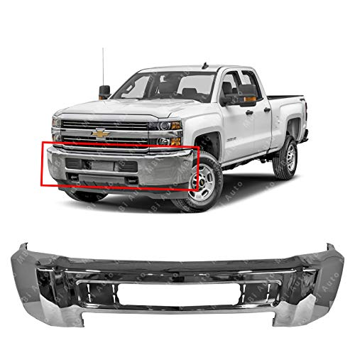 - MBI AUTO - Chrome, Steel Front Bumper Face Bar for 2015-2019 Chevy Silverado 2500 & 3500 15-19, GM1002851