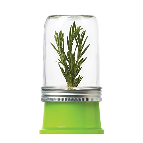 Jarware 82603 Herb Saver Lid for Wide Mouth Mason Jars, Green