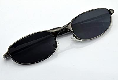 SpyGear-Mengshen® Cool Outdoor Spy Sunglasses Rear Mirror View Rearview Behind Anti-tracking Monitor and look like an ordinary pair of sunglasses Golden/Black Edge MS-HC34P - Mengshen