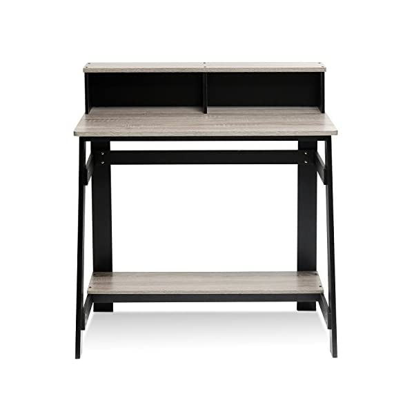 writing desk with hutch by Furinno