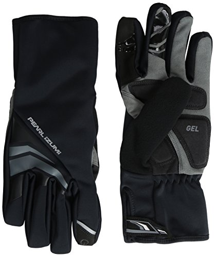 (Pearl iZUMi Men's Elite Softshell Gel Gloves, Black, Large)