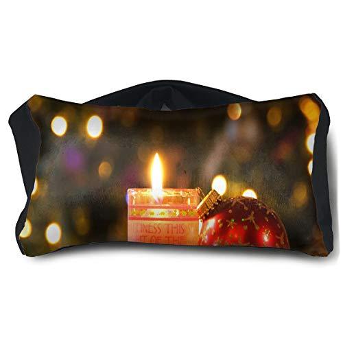 HJudge Eye Pillow Christmas Candle Personalized Womens Portable Blindfold Sleeping Eye Bag ()