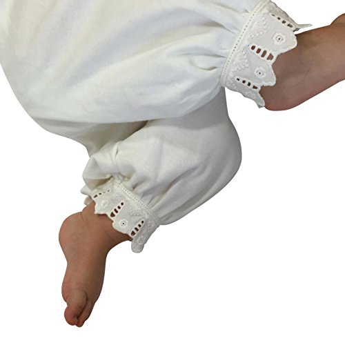 Victorian Organics Little Girl Toddler Pantaloon Organic Cotton Lace Long Pant (3T 3 Toddler, Off-White) by Victorian Organics (Image #3)