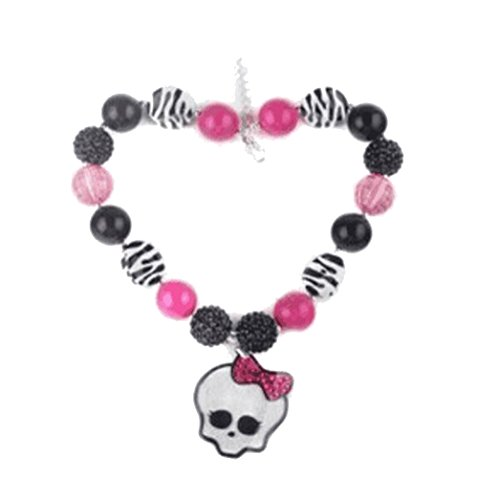 Cute Halloween series candy beads skeleton pendant necklace for girls womens