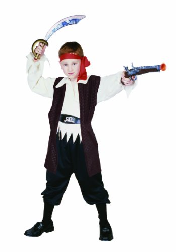 Pirate Costumes For Sale - RG Costumes Caribbean Pirate Costume, Black/Brown/White, Large