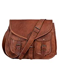 KPL 14 Inch Leather Purse Women Shoulder Bag Crossbody Satchel Ladies Tote Travel Purse Genuine Leather