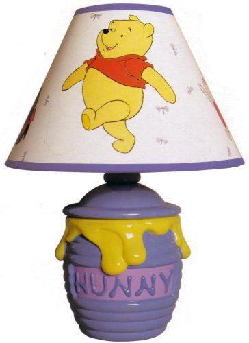 Amazon winnie the pooh hunny pot storytime lamp home kitchen winnie the pooh hunny pot storytime lamp mozeypictures Images