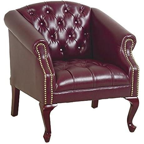 Office Star Queen Ann Traditional Vinyl Chair Jamestown