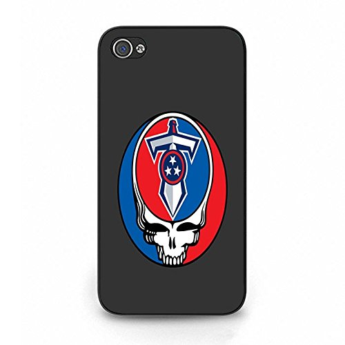 Iphone 4/4s Blue And Red Tennessee Titans Phone Case Cover Titans Skeleton Logo
