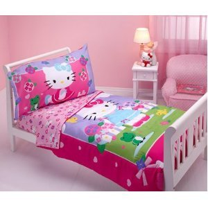 Hello Kitty – Springtime Friends 4-piece Toddler Bedding Set, Baby & Kids Zone