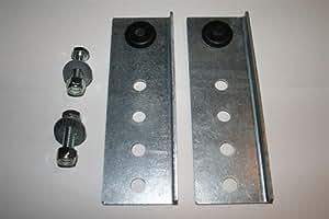 Garage door opener noise reduction and vibration isolation kit
