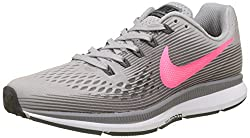 Nike Womens Air Zoom Pegasus 34 Running Shoes (6 B Us, Atmosphere Greyracer Pinkgunsmoke)