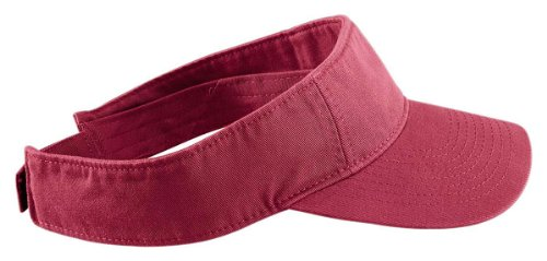 Cotton Twill Pigment (Authentic Pigment Direct Dyed Cotton Twill Visor Hat Cap - Chili)