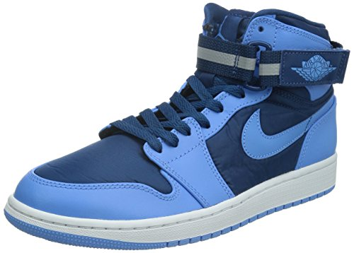 Nike Jordan Mens Air Jordan 1 High Strap French Blue/Unvrsty Blue/White Basketball Shoe 10 Men US