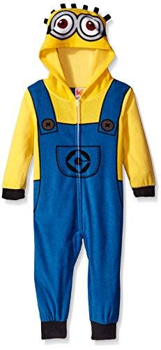 [Despicable Me Little Boys' Toddler Minion Family Cosplay Union Suit, Yellow, 4T] (Costume Minions)