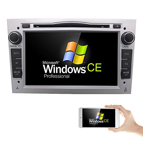 Silver 7 inch Car Audio Stereo Double Din In Dash for Opel Vauxhall Corsa...