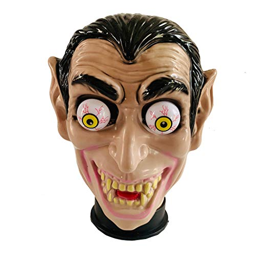 Gangster Halloween Makeup (Lmx+3f Halloween PP Mask Scary Full Head Mask Halloween Party Haunted House Decoration Cosplay Props Horrible)