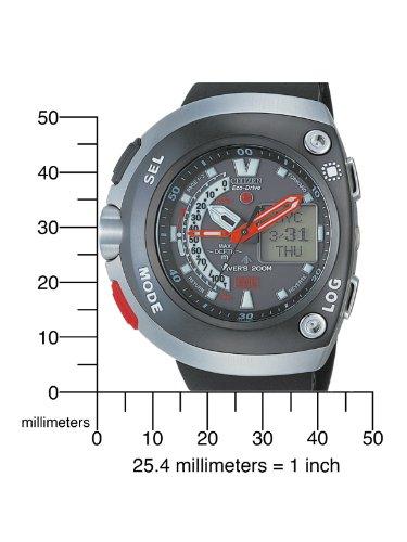 Citizen Promaster JV0050-03E - Reloj analógico - Digital de Cuarzo para Hombre, Correa de Goma Color Negro: Amazon.es: Relojes