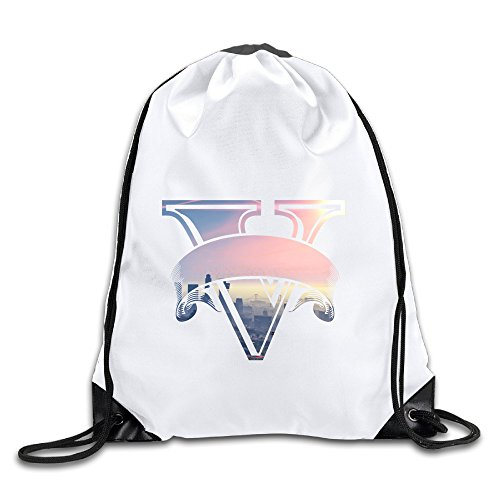 Hunson - Funny Grand Theft Auto V PC Release Date Sport Bag Drawstring Sling Backpack For Men & Women Sackpack