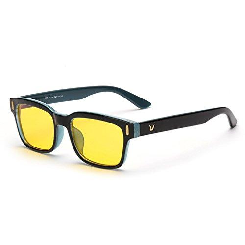 Rnow Yellow Tinted Computer Sunglasses Eye Strain Perfect for Gaming Anti Glare - Eyewear Zero