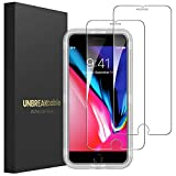 UNBREAKcable Screen Protector for iPhone 7 Plus 8 Plus [2-Pack] - Double Defense Series Premium Tempered Glass for iPhone 7 Plus/ 8 Plus, Case Friendly, Anti-Bubbles, Scratch-Resistant