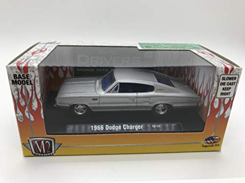 - M2 Machines Auto-Drivers 1966 Dodge Charger 12-13 Matte Silver Details Like NO Other! Over 24 Parts
