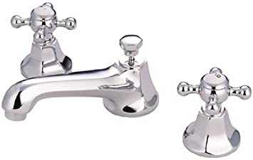 Kingston Brass Ks4461bx Metropolitan Widespread Lavatory Faucet With Metal Cross Handle Polished Chrome Touch On Kitchen Sink Faucets Amazon Com