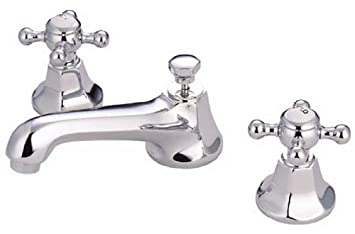 Incroyable Kingston Brass KS4461BX Metropolitan Widespread Lavatory Faucet With Metal Cross  Handle, Polished Chrome