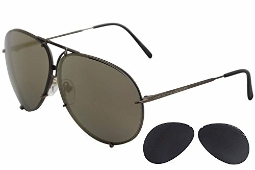 Porsche Design P8478 E 69mm Sunglasses Copper Frame Interchangeable - Sunglasses Mens Porsche