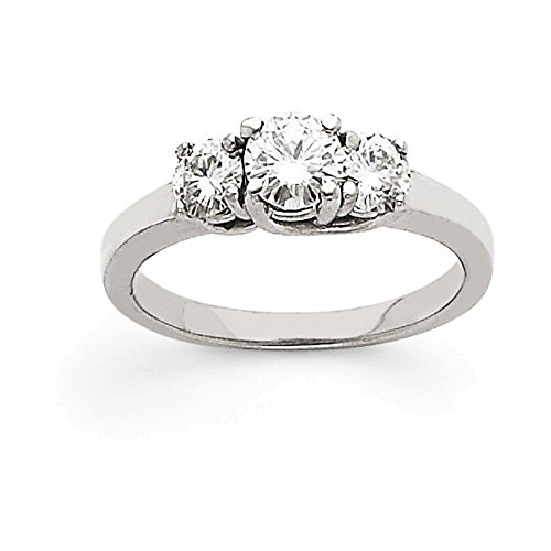 Aaa Diamond 3 Stone Ring - 14k White Gold AAA Diamond three stone ring Diamond quality AAA (SI2 clarity, G-I color)