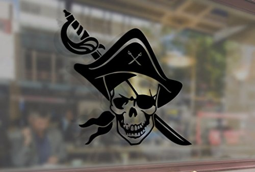 jolly roger car window decal - 2