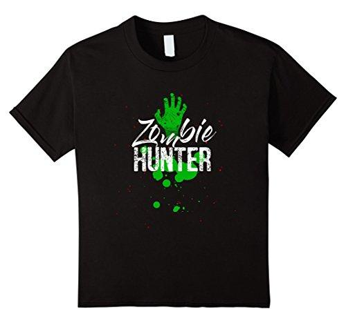 Costumes For Kids Hunter (Kids Halloween Zombie Hunter T Shirt costume 10)