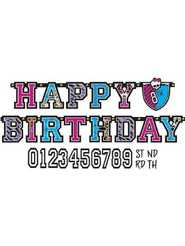 Jumbo Add-An-Age Letter Banner | Monster High Collection | Birthday -