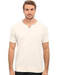 John Varvatos Star U.S.A. Men's Short Sleeve Raglan Knit Sweatshirt with Slit Neck K2235S1B