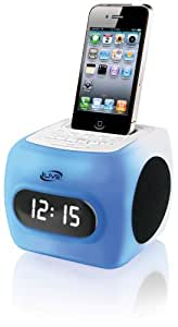 iLive iCP360 Color Changing Clock Radio with Dock for iPhone/iPod, 20 FM Presets and 0.8-Inch LCD Display