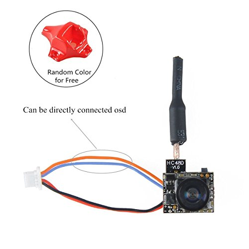Crazepony FPV Micro AIO Camera 5.8G 48CH 25mW Transmitter with Y Splitter for FPV Drone like Blade Inductrix etc