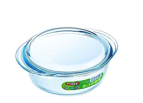 Pyrex 1 Litre Round Borosilicate Glass Casserole