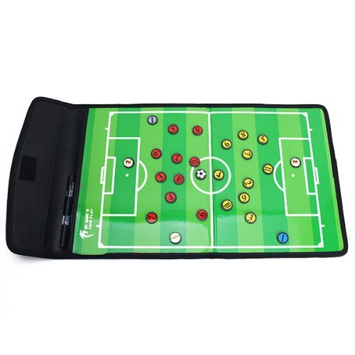 Sun Moon Leather Football Soccer Referee Tactics Set Soccer Tactics Board + Marker + Magnet Buttons