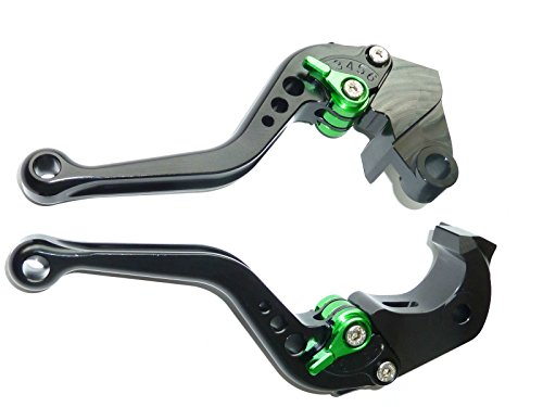LUO CNC Short Brake Clutch Levers for Kawasaki ZX6R/636 2007-2016,Z750R 2011-2012,Z1000 2007-2016,Z1000SX/NINJA 1000/Tourer 2011-2016,ZX10R 2006-2015-Black