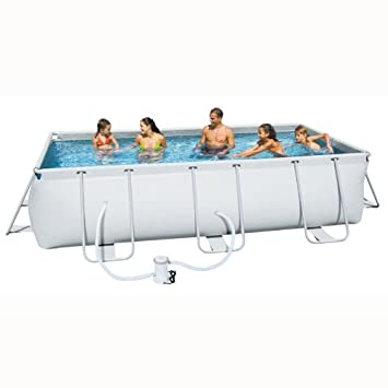 "Bestway Piscina rígida rectangular ""Iseo"" Media 201 x 303 ..."