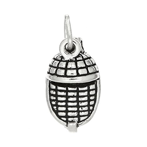 Lgu Sterling Silver Oxidized Three Dimensional Open Moses in Basket - Basket Silver Sterling Charm