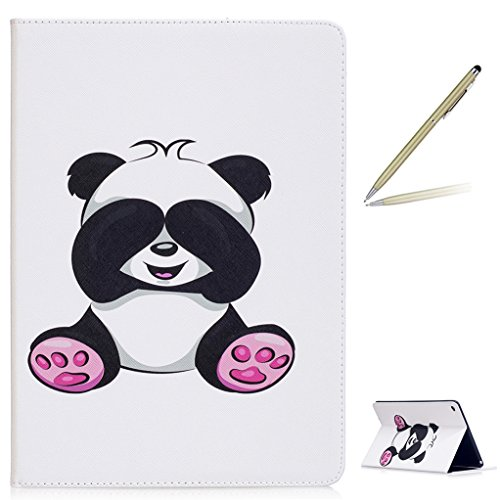 Trumpshop Tablet PC Protective Case for Apple iPad Air 2 (9.7-Inch) + Cute Panda + Premium PU Leather Flip Wallet Cover Bookstyle Stand Feature - International Track Usps Package