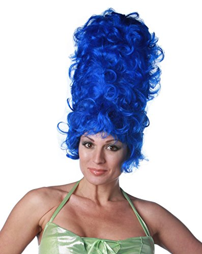 Premium Quality Marge Simpson Beehive Cosplay/Costume Wig - Dark Blue ()