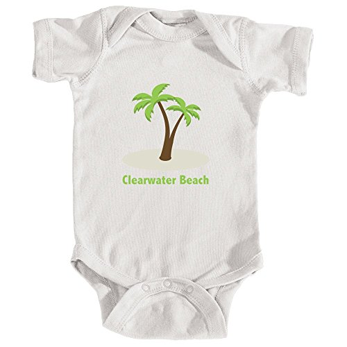 Tenn Street Goods Clearwater Beach, Florida Palm Tree - Infant Baby Onesie/Bodysuit (NB, - Street Fl Clearwater