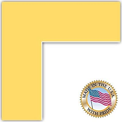 15x21 Buttercup Canary Custom Mat For Picture Frame With 11x17 Opening Size Mat Only Frame Not Included
