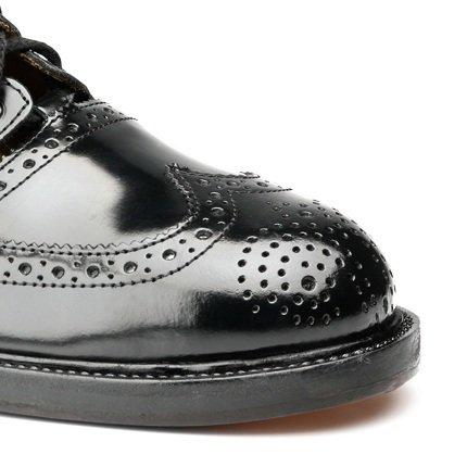 Neu Schottisch Schottisch Schottisch Leder Kilt Schuhe Distel - Standard Ghillie Brogues - Schwarz - UK ac4407