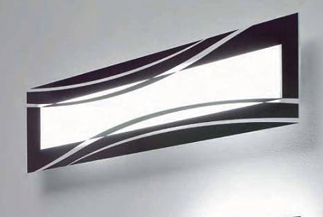 Soffio applique luci cm vetro nero e bianco amazon casa